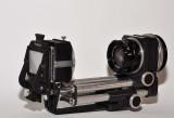 Nikkor 50mm F2.8 enlarging lens with Novoflex std. bellows and slide copier