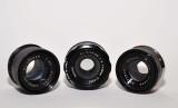 Various enlarger lenses