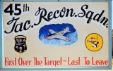 45th Tactical Recon sign K-14 feb/52