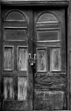 Church door in Del Rio Texas