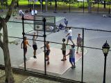 Basketball game in Riverside Park