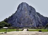 Buddha image on mountain