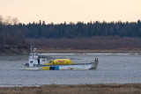 2011 Nov 7 Ontario Northland barge Manitou II heading to Moose Factory