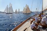 Voiles de Saint-Tropez 2011 - Journée du samedi à bord de Cambria (K4) un 23 MJ de 1928