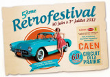 Plaque émaillée Rétro Festival de Caen 2012