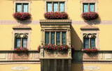 21 Visite de la ville d'Obernai - détail d'une maison