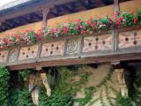 191 Visite de la ville d'Obernai - détail d'une maison