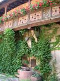 192 Visite de la ville d'Obernai - détail d'une maison