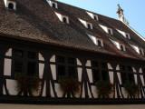 193 Visite de la ville d'Obernai - détail d'une maison