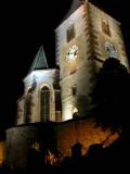 213 Unawihr l'église fortifiée de nuit