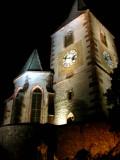 214 Unawihr l'église fortifiée de nuit