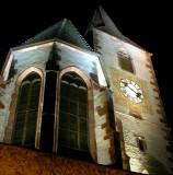 216 Unawihr l'église fortifiée de nuit