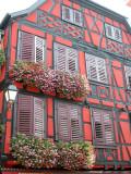 227 Découverte du village de Ribeauvillé - détail d'une maison