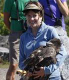 Karen with the Bald Eagle