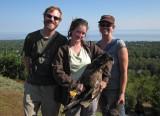 Annmarie Steve and Nova with Bald Eagle