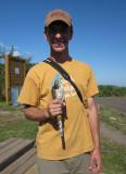 I'm holding a Sharp-shinned Hawk