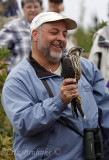 Andrew with Peregrine Falcon