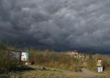 Dark clouds coming over the main overlook