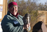 Margie with Juvenile Northern Goshawk