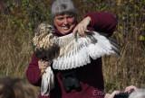 Margie with Rough-legged Hawk