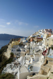 Breathtaking view of Oia's stairstepped landscape.
