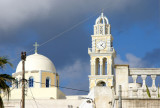 Dominican nunnery looming large over Fira.
