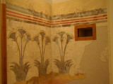 Frescoes on the walls of a house from the Minoan Civilization 17th Century BC