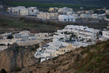 Pyrgos village with houses on the Caldera (crater).