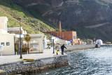 Picturescape of Santorini harbor.