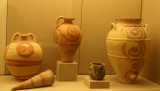 Pottery from the Minoan Civilization 17th Century BC excavated from Akrotiri