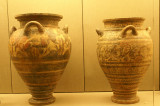 Pottery from the Minoan Civilization 17th Century BC excavated from ancient Akrotiri