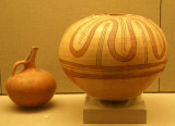 Pottery from the Minoan Civilization 17th Century BC excavated from ancient Akrotiri in Santorini.