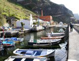 Santorini harborfront below Fira.