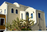 Typical house (adobe) in Oia village