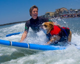 Dozer paddling out
