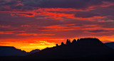 Cockscomb Formation Sunset, Sedona
