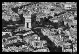 Arc de Triomphe from top of Eiffel Tower