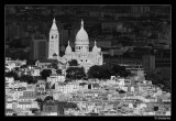 Montmartre and Sacre Coeur from top of Eiffel Tower