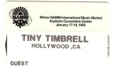 Tiny's 1982 Namm badge