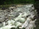 Rock and boulder filled Rio Cangrejal