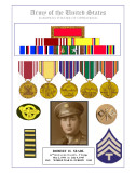 WWII Medal Display - Bob Searl