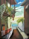 Painting of Casco Viejo