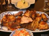 Moroccan chicken dinner