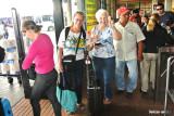 Jean and Melanie leaving Panama