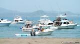 Party boats at Taboga Island