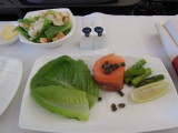 Garuda Melbourne to Bali J class part of meal