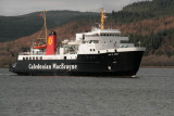 CalMac ferry approaching Kennacraig
