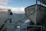 Onboard the CalMac ferry in West Loch Tarbet
