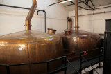 Inside the Bowmore Distillery - the hot water storage tanks