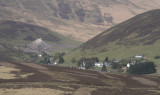 Wanlockhead village from Lowther Hill